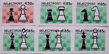 Stadspost Lelystad 2002 - Serie van 6 zegels Schaken, Chess (groen) ongetand