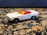 Vintage MAJORETTE Diecast Car MERCEDES 350 SL White Trunk Opens - Made in France