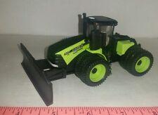 1/64 ERTL custom green 620 case ih steiger 4wd tractor w/ silage blade farm toy