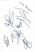 """Iron Maiden genuine autographs signed 8""""x12"""" page English heavy metal band"""