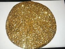 GOLD SEQUIN BERET HAT CAP MARDI GRAS OR  CHRISTMAS GIFT!  NEW  GLITTERING!!!
