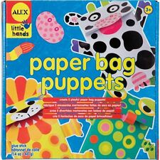 ALEX Toys 1411 Little Hands Paper Bag Puppets With 5 Colored Bags, 260 Stickers