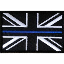 POLICE UNION JACK PATCH / BADGE SEW ON -   THIN BLUE LINE