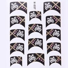 Nail Art Decal Stickers Glitter Nail Tips Bows JC016