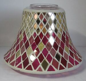Yankee Candle Jar Shimmer Shade MARRAKESH NIGHTS Gold Pink Red Item# 1552561