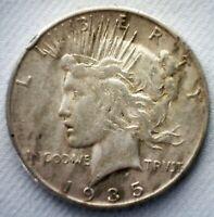 1935 S Silver Peace Dollar Coin $1 US Coin VF Very  Fine One Dollar Coin