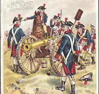 Antique 1880's George Washington Army Uniform Holabird Coats Sewing Trade Card