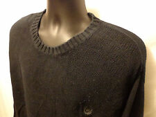 Chaps Ralph Lauren Black 100% Cotton Crewneck Pullover Sweater Men Sz XL