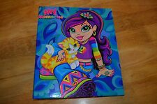 LISA FRANK Valerie & Cat 3 Ring Binder MY MEMORIES Memory Scrapbook w/ Paper HTF