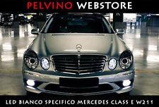 """COPPIA LAMPADINE LED BIANCO GHIACCIO """"MERCEDES-BENZ CLASSE E (W211)"""" NO ERRORS!"""