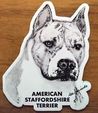 Magnet American Staffordshire Terrier Amstaff Dog Sketch Art Pit Bull 3in. Bully