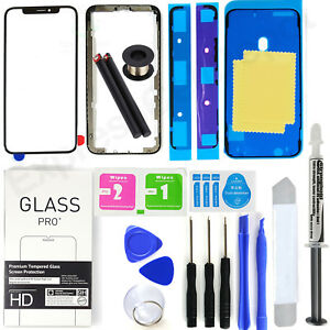 For Apple iPhone X Front Glass Lens Screen Bezel Replacement Kit LOCA tool