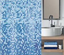 Peva Mosaico Baño Bath cortina de ducha impermeable Incluye 12 Ganchos 180x180cm