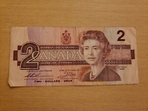 🇨🇦 Canada 2 dollars 1986 P-94 Currency Banknote 042021-25