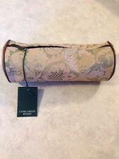 Nwt Laura Ashley Jewelry/Pen / Makeup Case Sage/gold Damask zippered case 9""