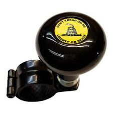 Black Steering Wheel Suicide Spinner Handle Knob Truck Car - DON'T TREAD ON ME Y