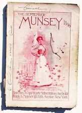 1896 Munsey Magazine September TONS OF ADS Good- Grade Monthly Quack Products