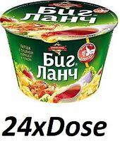 "24x ""Big-Lanch"" Rind Pilze Grünes Instant Nudeln БИГ-ЛАНЧ Лапша Говядина грибы"