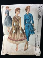 Vintage 40s 50s Sewing Pattern McCall's 3472 Dress Patterns