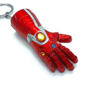 Marvel Avengers Iron Man Infinity Gauntlet Design Thanos Endgame Keyring New