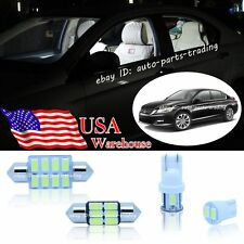 9-pc White LED Lights Interior Package Kit For Honda Accord Coupe Sedan 2013-up