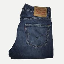 Levis 511™ 34 32 Mens Jeans Slim Fit Mid Dark Blue Distressed Denim ENGINEERED