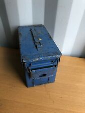 Vintage Blue Military Ammo Can 200 Cartridge Retro Mancave, H83 Mk 2