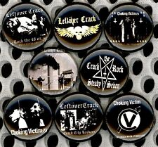 Leftover Crack 8 NEW 1 inch pins buttons badges choking victim crust punk ska