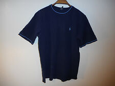 Polo Ralph Lauren T shirt men short sleeve dark blue cotton sz L Large MINT!