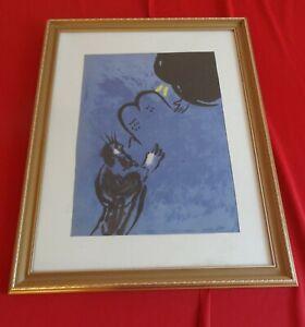 Marc Chagall Bible - Moïse reçoit les Tables de la Loi Framed Lithograph