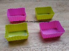 4pcs Rectangle Bento Tools Puto Jelly Cupcake Chocolate Baking Molder Mold Cups