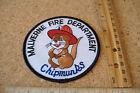 ~MALVERNE FIRE DEPARTMENT~CHIPMUNKS~FABRIC PATCH~