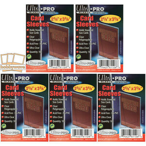 Ultra Pro Soft Sleeves/Penny Sleeves, Trading Card Protectors  -  500 Sleeves