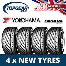 195/50/15 Yokohama Parada Spec 2 82V Tyres (Set) 1955015- x4 New 15 Inch Tyres