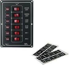 Sechsfach Schalttafel Schaltpanel - 12 Volt - 6 Schalter - beleuchtet
