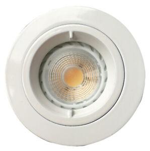 Spot à encastrer Fixe, Blanc, IP65 BBC-RT2012, pour lampe 230V GU10 NON INCLUSE