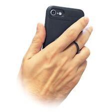 4-OK Ring Metal Silikon Schutz Hülle Case Cover in Schwarz für Apple iPhone X