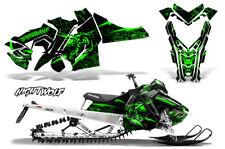 Polaris SKS Pro RMK Sled Decal Wrap Snowmobile Graphics Kit 06-10 NIGHTWOLF GRN