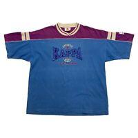 Kappa Athletic Team Tshirt | Vintage 90s Retro Sports Brand Blue Purple XL VTG