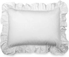 Madison White Ruffled Pillow Sham - Ruffled Standard Sham White 2 Pack