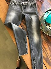 Miss Sixty J Lot Jeans Skinny Ankle Zip Grey Denim Women's Size 25 Italy