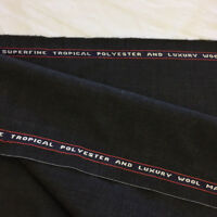 3.5 Metres Charcoal Grey Plain Made In England Wool Blend Suit, Suiting Fabric.