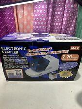 Electronic Heavy Duty Flat Clinch Stapler 70 Sheet Capacity Gray