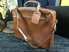 A. TESTONI Italian Tuscany Pebbled Leather Laptop Briefcase Attache Bag Mens