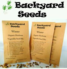 ORGANIC HEIRLOOM Winter Vegetable Seed Mix: 10 packs.