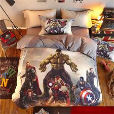 Marvel Avengers Shield Kids Quilt Cover Set SB Double Queen Doona Cover Bedding