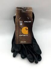 Carhartt Mens All Purpose Micro Nitrile Dipped Glove Single Pack Large Black