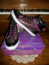 6084af9b3a97 D-signed Disney Razzle Dazzle Black Purple Glitter Hi-top SNEAKERS Shoes 3  Youth