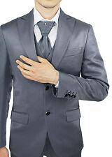 Traje Novio Hombre Diamond Class Sartorial Gris Vestido Con Chaleco Y Corbata