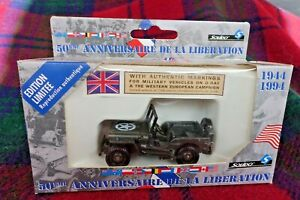 """SOLIDO 1/43 """"Liberation"""" #4494/11 Willys Jeep Durham (MIB) Made in France"""